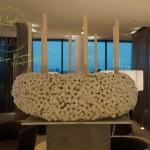 Adventskranz aus Baumwolle