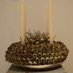 Adventskranz aus Eucalyptuskapseln